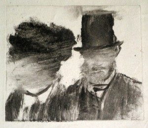 Degas, Heads of a Man and a Woman