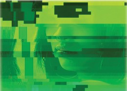 Sean Dack. Glitch Girl #3. 2008. C-print. 44 1/2 x 30 in. Courtesy of the artist and Fredric Snitzer Gallery, Miami, Florida.