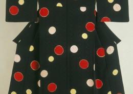 Woman's kimono Taisho period, 1920s Silk, figured satin crepe