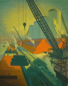 Richard Babcock, Industrial Waterfront – Great Lakes, ca. 1930