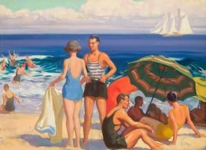 Aiden Lassell Ripley, Beach Scene, ca. 1935