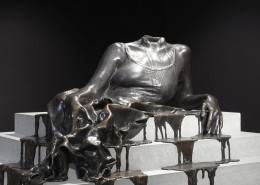 Diana Al-Hadid, In Mortal Repose, 2011, Bronze and concrete