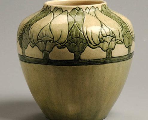Harriet Joor, artist, Japanese magnolia vase, c. 1904