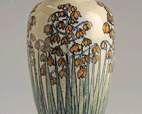 Marie de Hoa LeBlanc, artist, Spanish dagger vase, c. 1897