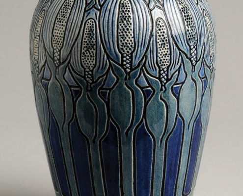 Esther Huger Elliot, artist, Calladium vase, c.1904