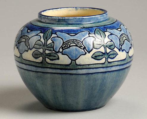 Unknown artist; Joseph Meyer, potter, Mock Orange vase, c.1905